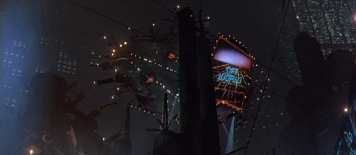 The Offworld Blimp as it appeared in Blade Runner.