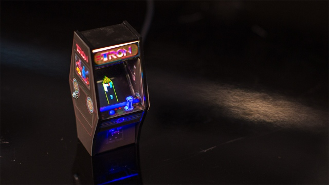Show and Tell: Tron Arcade Cabinet Miniature Model