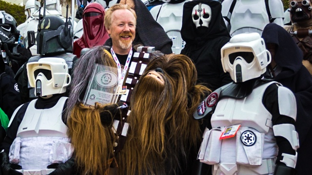 Adam Savage as Chewbacca at Comic-Con 2013