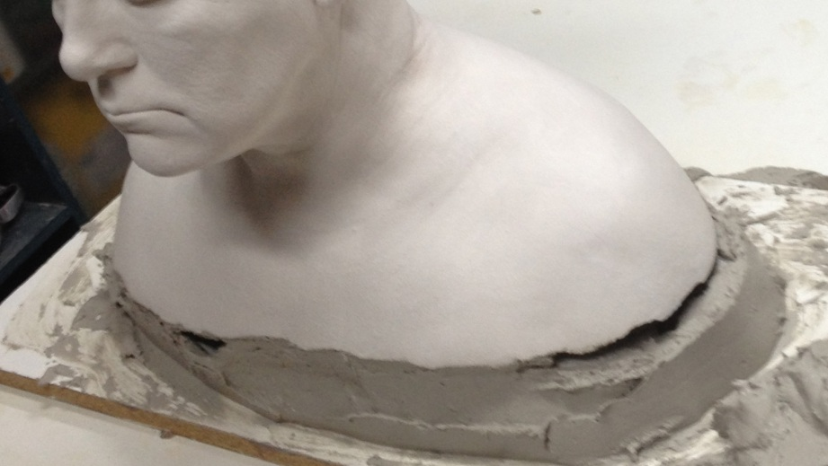 Making a sturdier plaster base for the life cast.