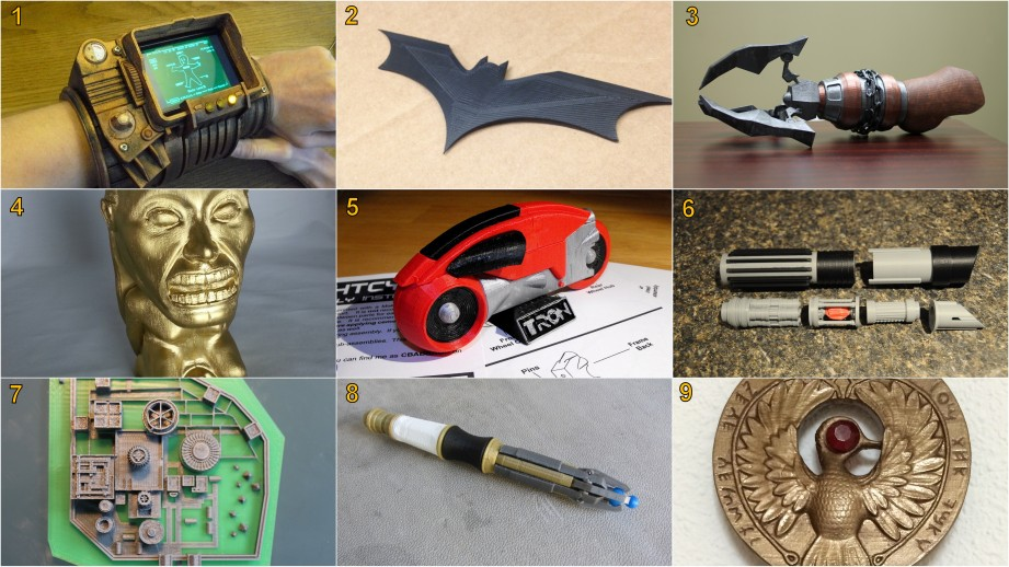 3D Printed props. See end of article for credits and download links.