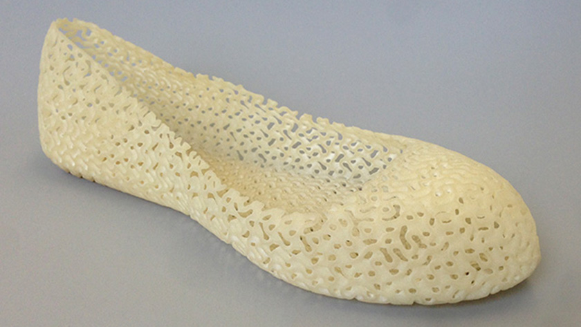 Flexible shoe printed with Shapeways' Elasto Plastic. CREDIT: Alan Hudson