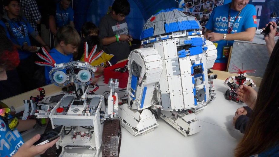 I would be remiss to not mention that LEGO was there in full-force with a crew from Mindstorms and had these amazing bots with them.
