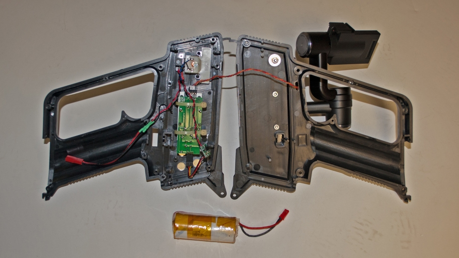Here you can see all of the electronics in place within the transmitter case.