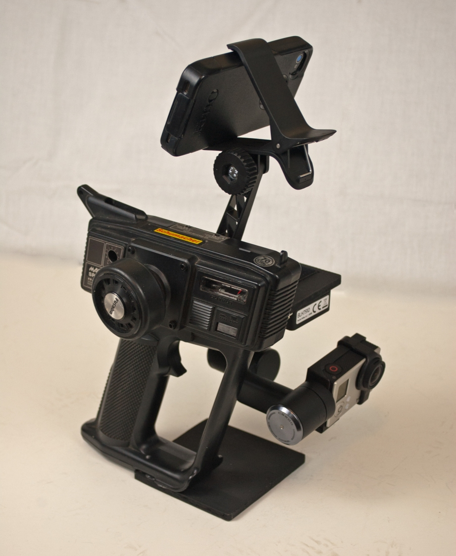 The completed gimbal mount is well balanced and easy to use, but somewhat large.