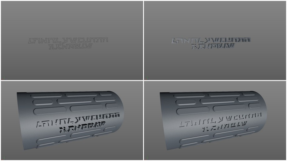 Font to 3D to cut-out