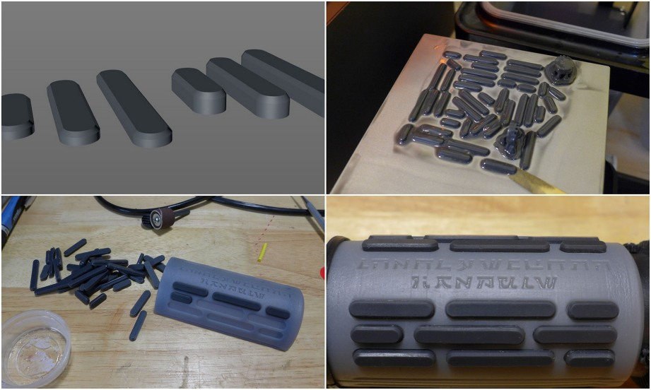 Original model vs modded for printing directly on platform with flexible resin