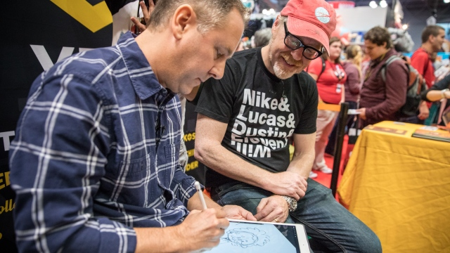 Adam Savage Learns Comic Art from Chris Eliopoulos