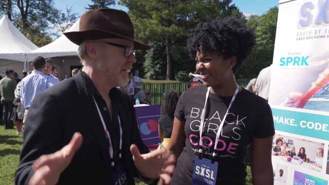 Adam Savage Meets Black Girls Code Organizers at The White House