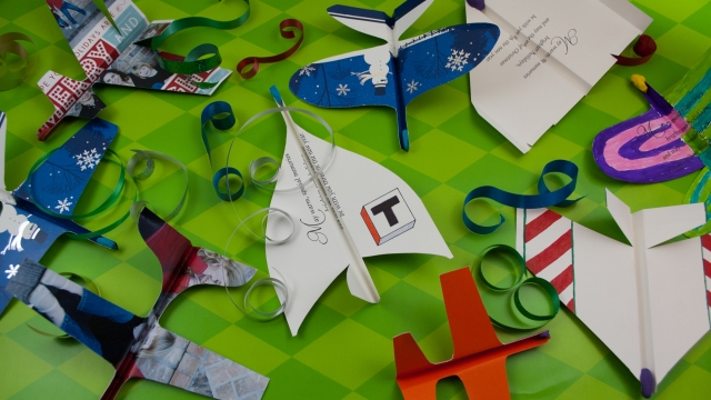 How To Make Airplanes from Christmas Cards