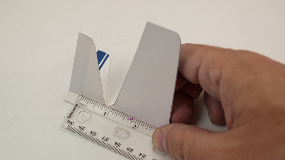 Use a ruler to help make your wing and tail surface folds clean and precise.