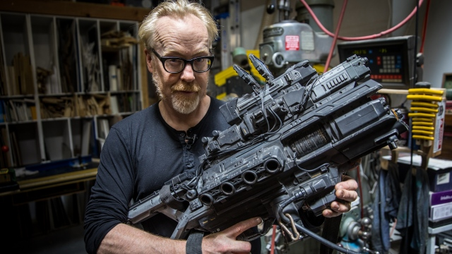 Adam Savage Geeks Out Over Weta Workshop Props from Spectral!