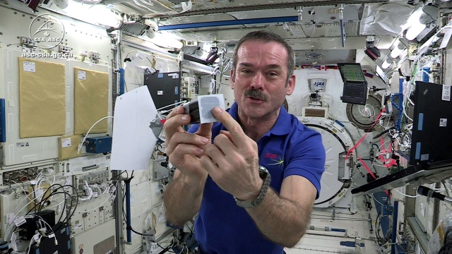Chris Hadfield Tests Jamie and Adam's Space Game