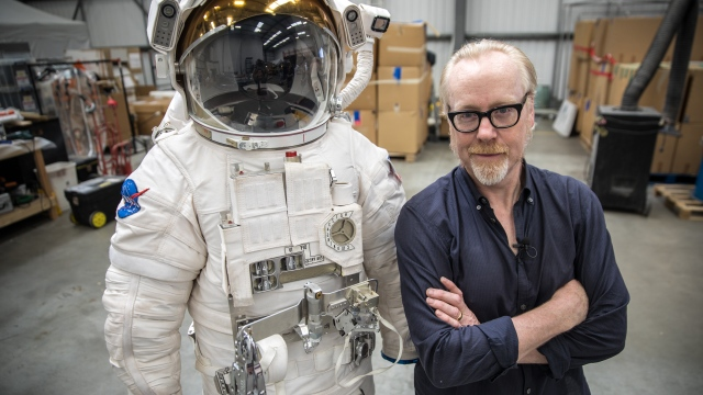 Adam Savage Examines the NASA EMU Spacesuit from 'The Martian'