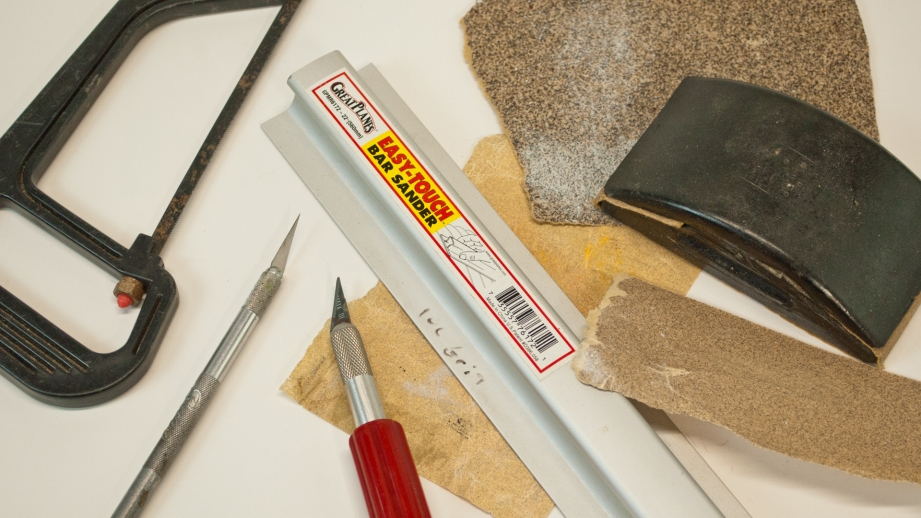 You don't need many tools to build a balsa airplane. A hobby knife and sandpaper will cover most building tasks.
