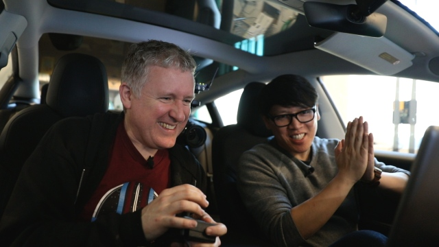 Tested: Games in a Tesla with Atari Controller!
