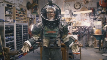Adam Savage Wears the North Bergen High School Alien Play Spacesuit!