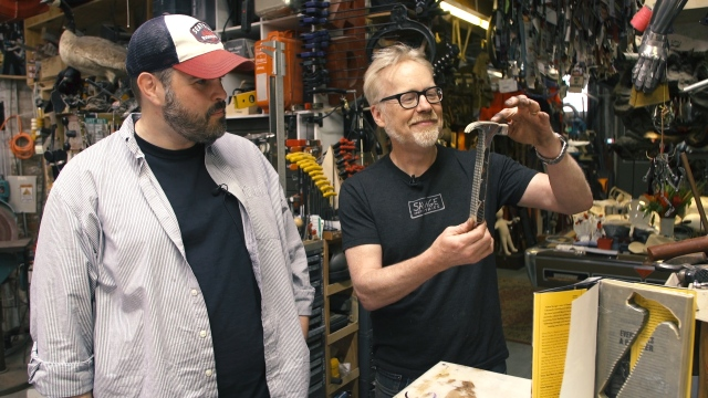 Inside Adam Savage's Cave: Book-Turned-Hammer!