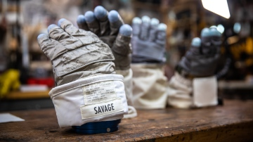 Inside Adam Savage's Cave: New Apollo EVA Gloves!