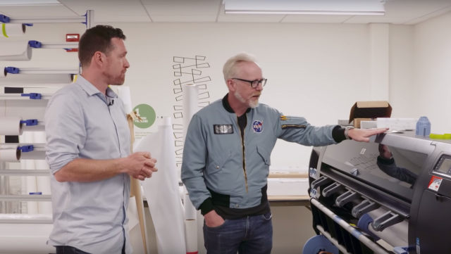 Adam Savage Tours the Graphics Department at Smithsonian Exhibits!