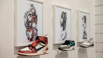 Reina Koyano Transforms Sneakers into Pin-Up Art