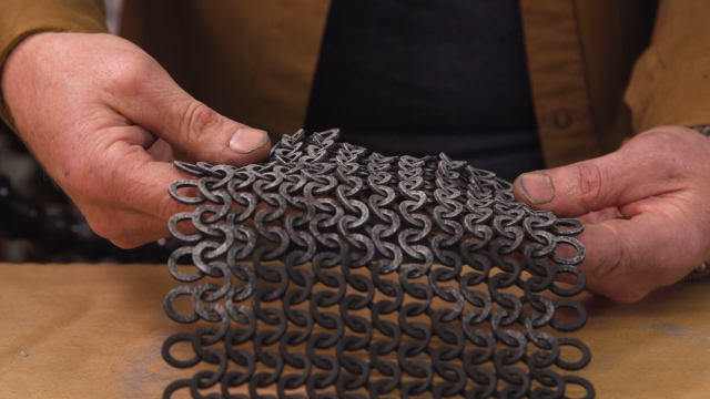 Adam Savage Geeks Out Over EVA Foam Chain Mail!