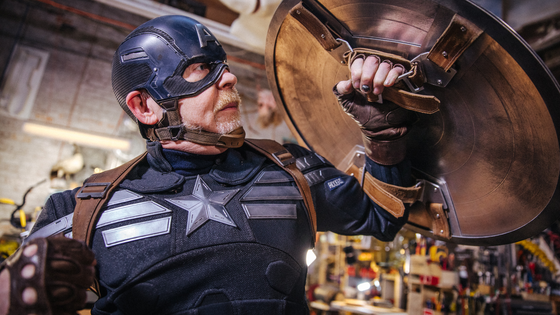 Captain America stealth suit armor cosplay costume