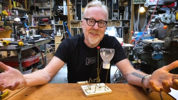 "Adam Savage's ""Cabin Fever"" Coat Hanger Sculpture!"