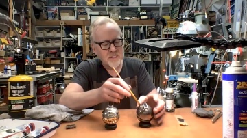 Adam Savage's Live Builds: Weathering a Thermal Detonator Kit!