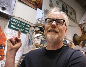 The Story of Adam Savage's Contradictory Wall Sign!
