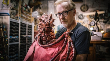 Inside Adam Savage's Cave: Pet Dragon Puppet!