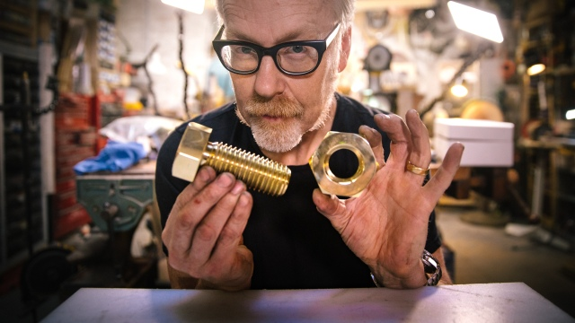 Adam Savage's One Day Builds: Giant Brass Nut and Bolt!