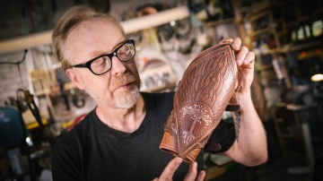Inside Adam Savage's Cave: Weta Workshop's Aragorn Vambraces