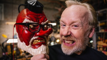 Inside Adam Savage's Cave: Awesome Tengu Masks!