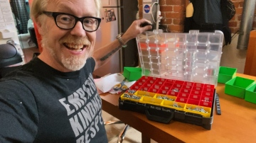 Inside Adam Savage's Cave: Spilled Sortimo Storage Box Sorting!