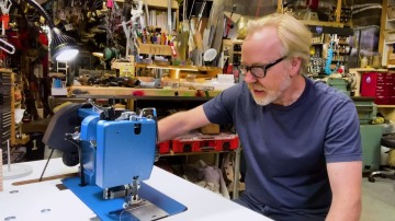 Adam Savage Sets Up His Sailrite Sewing Machine!