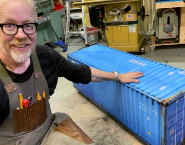Adam Savage's One Day Builds: Miniature Shipping Container!
