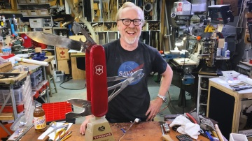 Adam Savage's One Day Builds: Giant Swiss Army Knife Repair!