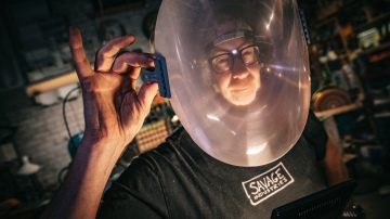 Adam Savage's Distortion Helmet!