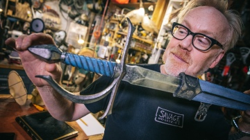 Inside Adam Savage's Cave: Chronicles of Narnia Sword!