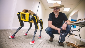 Adam Savage's One Day Builds: Modifying Spot's Robot Form!