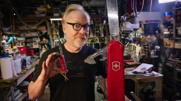 Adam Savage Finally Fixes His Giant Swiss Army Knife!