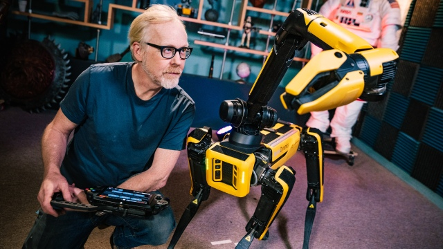 Adam Savage Tests Boston Dynamics Spot's New Robot Arm!