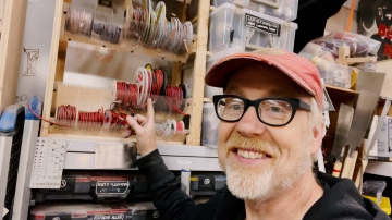 Adam Savage's One Day Builds: Wire Storage Solution!