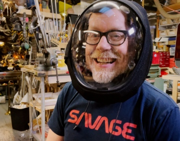 Adam Savage Tests the AIR Active Filtration Helmet!
