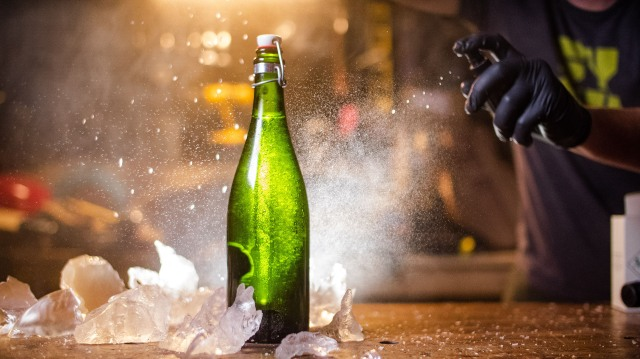 How To Make a Fake Frosty Beer Bottle!