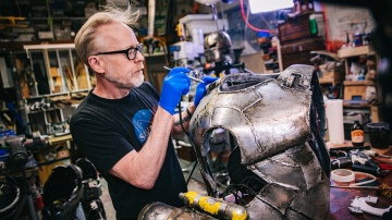 Adam Savage's One Day Builds: Painting Iron Man Armor!
