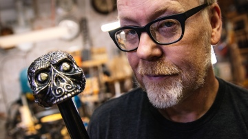 Adam Savage Unboxes His James Bond Spectre Cane!