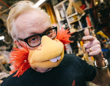 Adam Savage Tries on Puppet Mouth Masks!