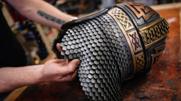 Adam Savage Geeks Out Over EVA Foam Scale Maille!
